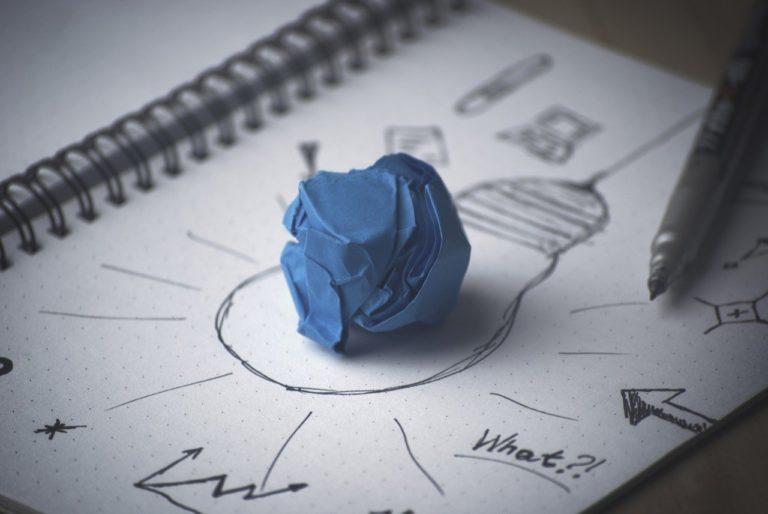 lightbulb notes on a page translation
